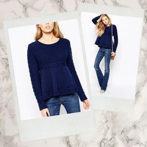 ba&sh ▪ Bloom Navy Blue Knit Pullover Sweater